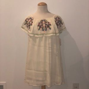 Altar'd State White Dress with Floral Design NWT